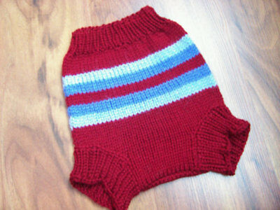 Hand Knitted Wool Cloth Diaper Cover baby nappy cover size Large 12-18 Months