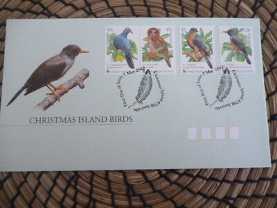 Christmas Island fdc 2002 Birds