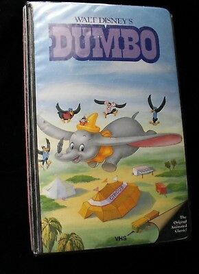 Dumbo Walt Disney Black Diamond Rare Early Black Puffy Case VHS Vintage