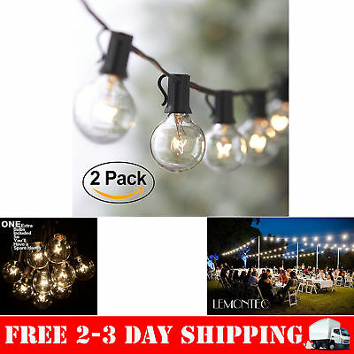50FT String Outdoor Waterproof Globe Light Bulbs Vintage Backyard Patio Lights
