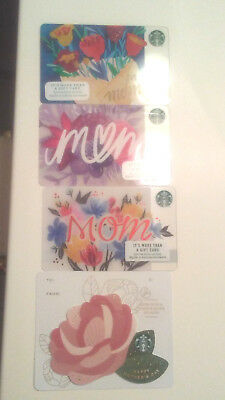 2 New 2018 Starbucks MOTHERS DAY GIFT CARDS + 2016/2017 MOTHERS DAY CARDS FREE