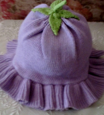 "Cute Cotton-Knit Hat For 0-3 Month Infant - By ""gymboree"" - New"