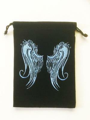 Tarot Card Bag Pouch - Angel Wings, Cards Runes Crystals