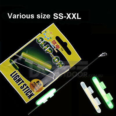 20 pcs (10 packs) x Fluorescent Fishing Rod Glow Clip on Lights Stick (SS-XXL)