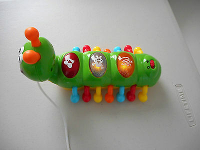 Pull Along Musical Toy Caterpiller different songs & sounds moving legs green