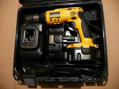 "DEWALT DW996 1/2"" VSR 14.4V Adjustable Hammer Drill 2 Batteries Charger Case"