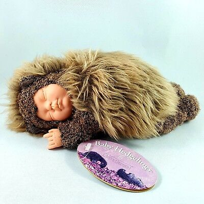 Anne Geddes Collectible Baby Hedgehog Doll Toy 1999 With Tags Vintage 8.3""