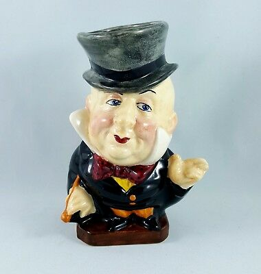 1940s Burgess & Leigh England Mr. Micawber From David Copperfield Toby Jug