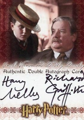 The World of Harry Potter 3D Richard Griffiths Harry Melling Dual Autograph Card