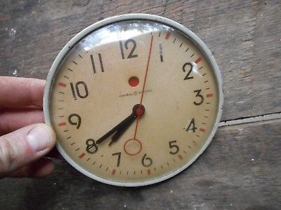 """Vintage Retro GE General Electric 5.5"""" Face Plate Dial Clock Part Red Kitchen"""
