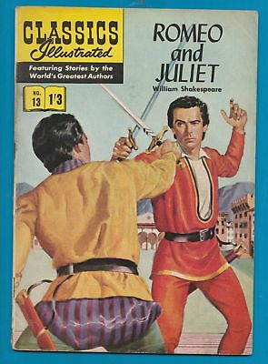 Classics Illustrated Comic Book  #13  Romeo & Juliet by William Shakespeare #331