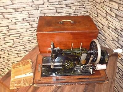 Vintage Collectable Frister & Rossmann Hand Crank Sewing Machine With Case 1920