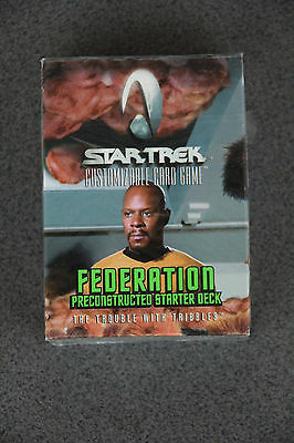 """Star Trek CCG """"The Trouble With Tribbles"""" Federation Preconstructed Starter"""