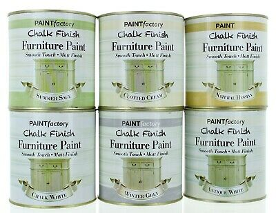 Large 650ml Chalk Finish Furniture Paint Smooth Touch Matt Finish - 6 Colours