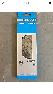 1761b567ceb NEW Shimano CN-HG53 Deore Tiagra Super Narrow HG 9-Speed Bicycle Bike Chain
