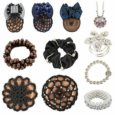 Horka Hair Band Donut Bun Ring Decorative Pin Horse Riding Competition Accessory