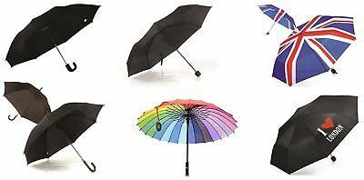 Classic Strong Black Umbrella Men Women Wind Resistant Portable Folding In Many