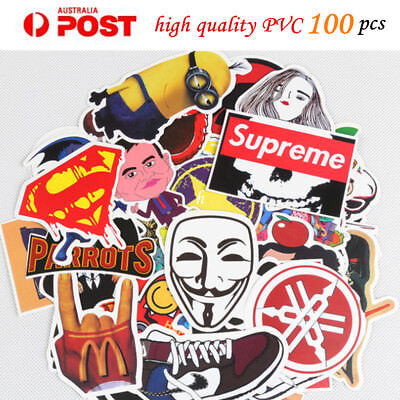 100 x Random Vinyl Decal Graffiti Sticker Bomb Laptop Waterproof Stickers Skate