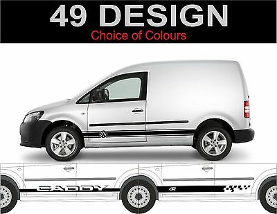 volkswagen caddy vw caddy seitenstreifen aufkleber sticker. Black Bedroom Furniture Sets. Home Design Ideas