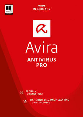Avira Antivirus Pro 2018 2 PC / Geräte 2Jahre | VOLLVERSION| DE-Lizenz Download