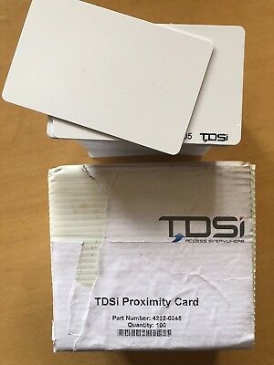 TDSi Proximity Cards PVC x100   Pt.No 4262-0245  *****FREE UK DELIVERY*****