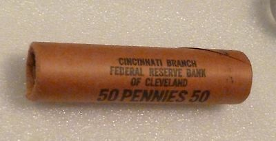 1961P Lincoln Memorial Cent Uncirculated Original Penny Federal Reserve Roll