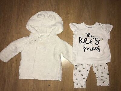 Up To 3 Months Next Cardigan Mothercare Outfit