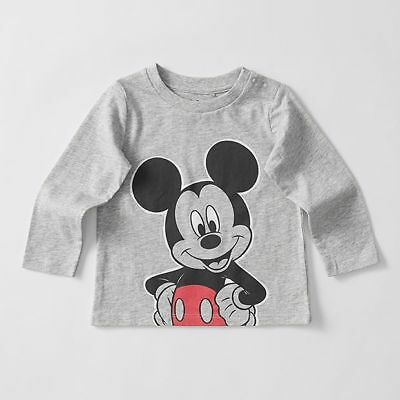 NEW Disney Baby Mickey Mouse Long Sleeve T-Shirt Kids