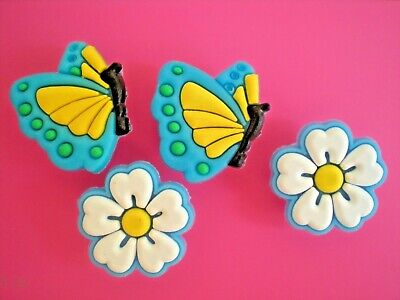 Jibbitz Croc Clog Shoe Charm Plug Fit Kid Bracelet Accessories Butterfly Flower