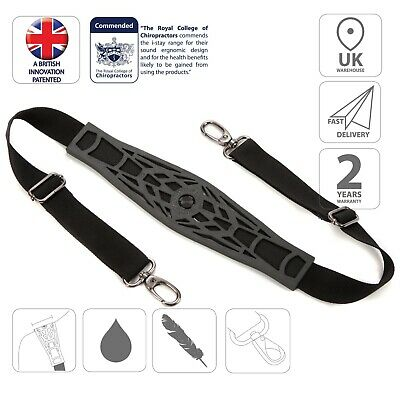 i-stay non-slip replacement bag strap Version 2 - Black IS0921