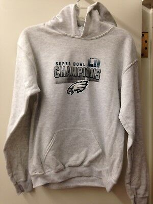 Philadelphia Eagles Super Bowl LII Champions Gray Youth Hoodie (Youth Large) 8bfe35b13