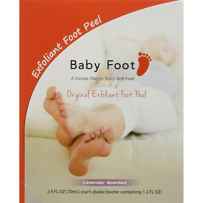 Baby Foot Exfoliant Peel w/ Lavender Scent - 1 Hour Treatment - Made In Japan