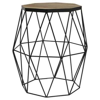 Hexagon wire side table industrial design living room coffee table industrial modern side table metal wire frame design lounge living room end home greentooth Images