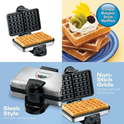 Hamilton Beach 26009 Nonstick Belgian Waffle Easy to Use, Clean and Store
