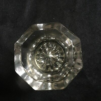 ANTIQUE Vintage Single DOOR KNOB  Clear GLASS Octagonal Shape
