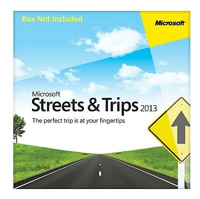 Microsoft Streets and Trips 2013 - 2 PC's
