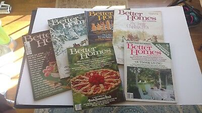 BETTER HOMES AND GARDENS 1963-1982 lot of 6 vintage magazines Look!