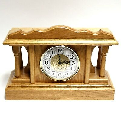 Solid Wood Shelf Mantle Dual Chime Clock 12.5 x 17.5 x 6.5 Hermle 2114 Movement