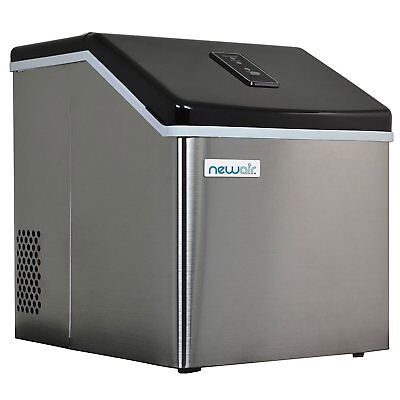 Automatic Ice Maker Stainless Steel 40lbs/24h Freestanding Commercial Home Use