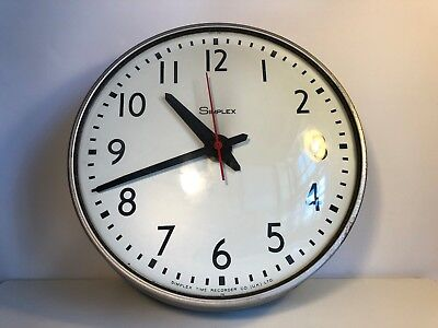 36cm Simplex Electric Slave School Wall Clock with Convex Glass