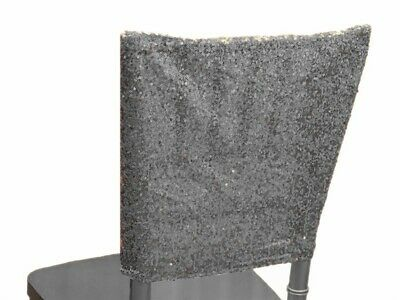 Stupendous 6 Pcs Sequin Chair Covers Square Top Caps Party Wedding Pdpeps Interior Chair Design Pdpepsorg