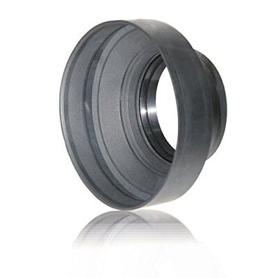 62mm Soft Rubber Collapsible Lens Hood For Nikon, Fuji, Canon, Sony & Pentax