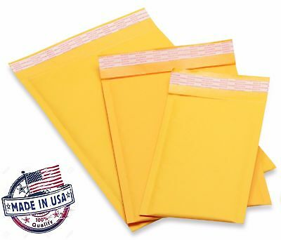 KRAFT Bubble Mailers Padded Envelopes #0 #1 #2 #3 #4 #5 #6 #7 #00 #000 USA MADE