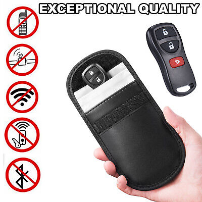 Car Key Keyless Entry Fob Signal Guard Blocker Black Faraday Bag - LARGE Version