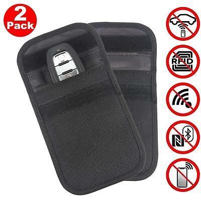 2x RFID Key Pouch Car Signal Blocker Faraday Case for Keyless Entry Vehicles