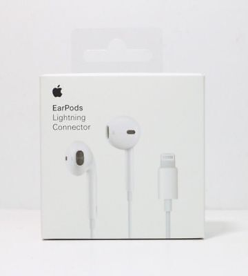 Apple Earbuds with Lightning Connector White Mobile Phone Earpods A1748 Headset