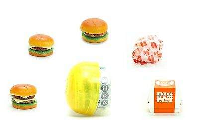 Dollhouse Miniatures Food Lot 10 Hamburger Double Cheese Burger Supply 13820