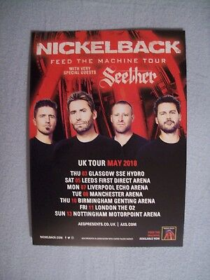 NICKELBACK Feed The Machine Tour  A5 concert poster