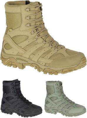 "MERRELL Moab 2 8"" Waterproof Tactical Military Army Combat Desert Boots Mens New"