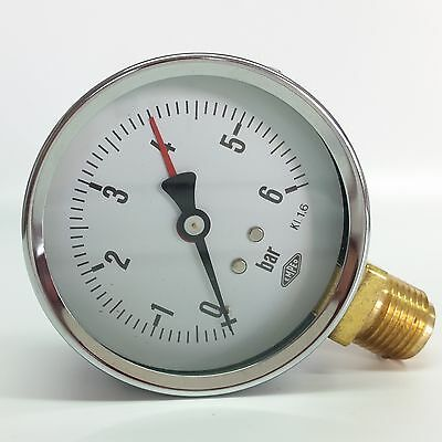 "Manometer Ø80mm  G1/2"" unten,  - alle Messbereiche - EMPEO - Made in Germany"